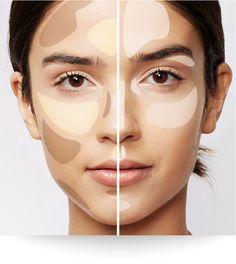 Contouring vs Nontouring   e.l.f. Cosmetics