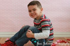www.facebook.com/JeniJPhotography Valentines day, big kids, rose petal, smile happy boy