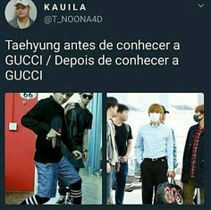 Esquadrão da moda ft.Taehyung.kkkk Bts Boys, Bts Bangtan Boy, Bts Jimin, Bts Memes, Funny Memes, K Pop, Taehyung, Seokjin, Namjoon