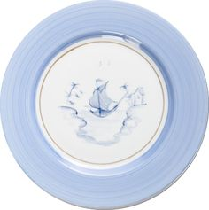 Hand-painted French Limoges Porcelain by Marie Daage ~ Collection: Bamboo Marco Polo. Color: Blue Lavender