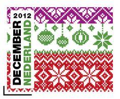 Christmas Cross, Christmas Balls, Knitting Charts, December, Cross Stitch, Diagram, Kids Rugs, Knits, Netherlands