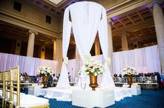 The Columns In Memphis Set Up For A Wedding Ceremony Jeremy Deonna