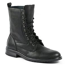 0329d11ab6 Men s 801026 Tall Military Style Lace Up Combat Fashion Dress Boots Fox Man