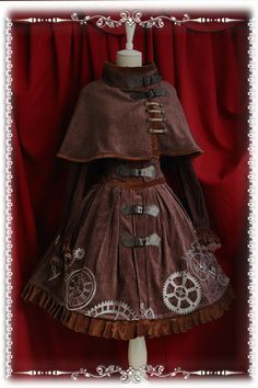 [. Infanta infants Vatican tower] Lolita * Steampunk * counterclockwise breast care unit * tunic embroidered JSK 2 colors - Taobao steampunk lolita steamloli salopette! it looks great with the cape!