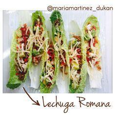 Prueba a cambiar las tortillas de tus fajitas o burritos por hojas de lechuga romana. Aportan casi cero hidratos, mucha fibra... La lechuga romana casi no tiene sabor (vas a notar solo el sabor del relleno) y las hojas centrales tienen la forma perfecta Más recetas, trucos, consejos - en mi blog recetasdukanmariamartinez.com/ - en Intagram www.instagram.com/mariamartinez_dukan/ #dukan #bajoenhidratos #paleo #whole30