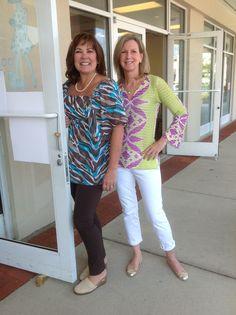 Sheila and Lori - the Polka Dots welcoming committee.