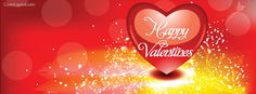 Happy Valentines Heart Facebook Cover CoverLayout.com