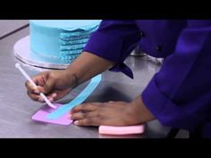 How to Make Fondant Frills : Take the Cake - YouTube