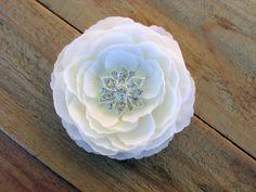 White Bridal Flower,Flower Fascinator Hair Clip by EnchantedlyYours  Wedding, Bride, Hair Accessories, Head Piece, Hair Piece