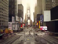 Lucie & Simon - 'Silent World' series: Times Square - click through to see the whole series.