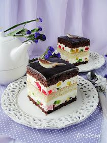 Polish Desserts, Polish Recipes, Baking Recipes, Cake Recipes, Dessert Recipes, Brownie Cake, Love Cake, Homemade Cakes, Party Cakes