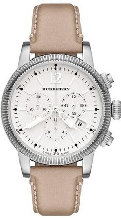 Burberry Trench Leather Chronograph Ladies Watch BU7816