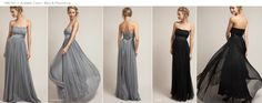 I love this grey dress as an option for bridesmaids.