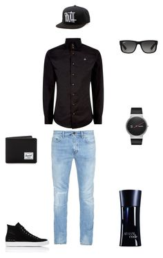 """""""every day  fashion"""" by almir-camdzic ❤ liked on Polyvore featuring Yves Saint Laurent, Ray-Ban, Skagen, Vivienne Westwood, Common Projects, Giorgio Armani, Herschel Supply Co., men's fashion and menswear"""