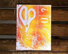 Handmade Art Greeting Card  by 30SilentMockingbirds on Etsy, $4.00