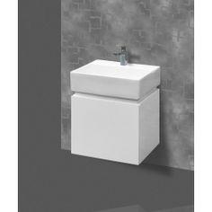 Bathroom Wall Hung Vanity Narrow Slim & Ceramic Basin x - Innovative Vanity Basin, Vanity Cabinet, Wall Hung Vanity, Bathroom Wall, Architecture Details, Cupboard, Innovation, Sink, Shelves