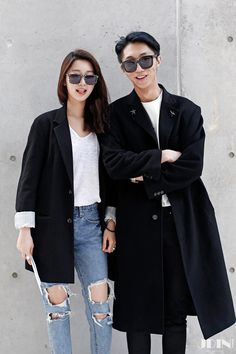 2014 F/W Seoul Fashion Week Street Fashion _[JDIN KOREA] with 유송은 and 광민