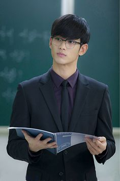 "(The fictional character of) Professor Do Min Jun - the alien played by  Kim Soo Hyun in ""My Love From the Stars"""