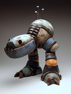 Michael Klapthor Robot at MudFire Gallery