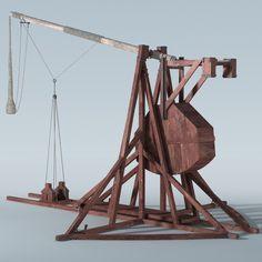3d tribok trebuchet model