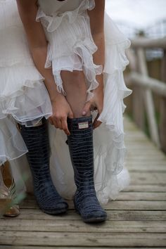 A country Wedding calls for wellies. Our Wedding, Wedding Country, Wedding Ideas, Powerful Women, Country Girls, Sexy Outfits, Jimmy Choo, Ruffle Blouse, Female