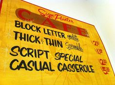 All sizes | Sign Painter Cafe | Flickr - Photo Sharing!