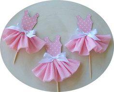 Dicas pra Mamãe: Topo para Cupcake de tema Bailarina