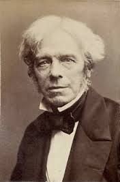 "Michael Faraday -Scientist- electromagnetic induction- diamagnetism-electrolysis- ""The book of nature which we have to read is written by the finger of God."" (Einstein kept a photo of Faraday on his wall)"