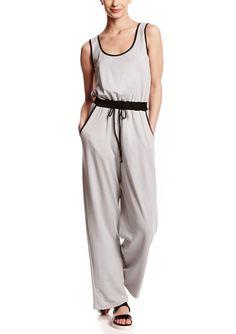 EMMA & MICHELE Sleeveless Cotton Drawstring Jumpsuit | ideel