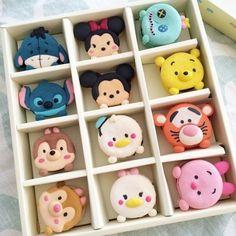 Image via We Heart It https://weheartit.com/entry/161389948/via/14658766 #adorable #cupcakes #eeyore #mickeymouse #minnie #piglet #Poohbear #stitch