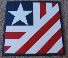 """2' x 2' patriotic """"barn quilt"""" going up on our house soon.  Bought on Etsy."""