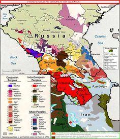 Ethno-Linguistic Groups in Caucasus Map - Caucasus • mappery