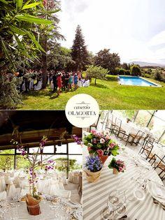 Caserío Olagorta: lovely Place to celebrate a wedding.  Un lugar idílico para celebrar una boda.