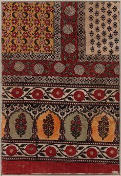 Satringe (floor cloth): Block printed cotton, Pali, Rajputana, India, 19th c.