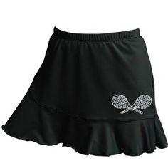 Rhinestone Flounce Tennis Skort (XS, Black) DTL Down The Line Sportswear Inc. http://www.amazon.com/dp/B005OJIU9A/ref=cm_sw_r_pi_dp_0d.Rwb0JY2JAA