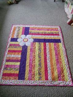 Girls quilt- love the bold colors!