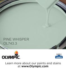 PINE WHISPER OL743.3 is a part of the greens collection by Olympic® Paint.