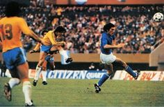 Italy 1 Brazil 2 in 1978 in Buenos Aires. Dirceu brilliantly scored the winner from long range in the 3rd place play-off at the World Cup Finals.