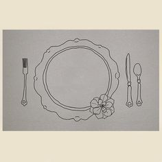 Rustic Placemat printable www.lovevsdesign.com Draw your own placemat. Teach etiquette, place setting and left vs right