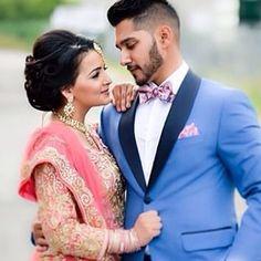 wedding couple 33 South Asian Brides Who Totally Won Their Wedding Day couple photoshoot Couple Wedding Dress, Wedding Couple Photos, Indian Wedding Photos, Wedding Pics, Wedding Couples, Couple Pics, Wedding Wear, Spring Wedding, Wedding Makeup
