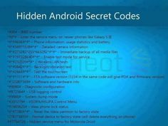 32 Secret Codes That Every Android Smartphone User Should KnowHere's a list of secret codes that unlock some cool features of your phone.LMF Free Classified is an online Pakistan Free Classified website.You can post free classified ad with out regist Android Phone Hacks, Cell Phone Hacks, Smartphone Hacks, Android Smartphone, Android Secret Codes, Android Codes, Android Technology, Technology Hacks, Educational Technology