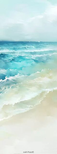 48 Ideas For Painting Watercolor Beach Water Colors # beach watercolor paintings 48 Ideas For Painting Watercolor Beach Water Colors Watercolor Ocean, Watercolor Paintings, Painting Wallpaper, Simple Watercolor, Painting Canvas, Art Paintings, Canvas Art, Watercolor Techniques, Beach Art