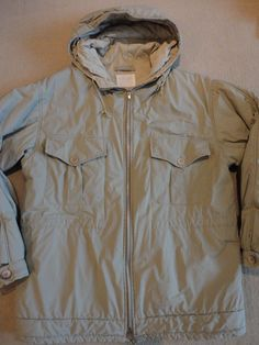 Iconic A w 98 Helmut Lang 1998 Beige Hooded Insulated Parka Coat Jacket 46 Italy | eBay