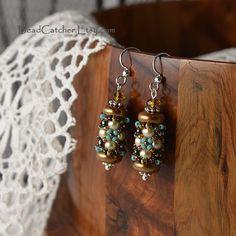 SALE Beadwoven earrings