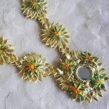 Gota Patti Jewellery, Kurti Designs Party Wear, New Love, Ethnic Jewelry, Jewelry Patterns, Christmas Wreaths, Lace, Fabric, How To Wear