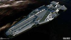ArtStation - Call of Duty Infinite Warfare - UNSA Retribution exterior design, Mike Hill