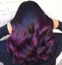 It's All the Rage: Mahogany Hair Color plum balayage Hair Color Purple, Cool Hair Color, Red Purple, Plum Hair Colors, Burgundy Plum Hair Color, Aubergine Hair Color, Plum Brown Hair, Brown Brown, Ombre Hair