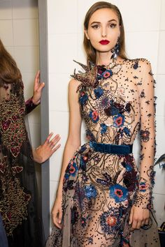 Elie Saab Couture, Fall 2016 - Couture's Most Fabulous Backstage Photos - Photos Beautiful but way too thin.