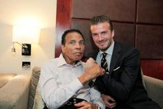 Muhammad Ali with David Beckham. What an amazing photo. That will go down in the history books. via @Moxey25