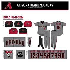 2016 Arizona Diamondbacks New Uniforms on Behance Mlb Uniforms, Baseball Uniforms, Baseball Jerseys, Basketball, Gyms Near Me, Arizona Diamondbacks, Letter Set, New Words, Ice Hockey